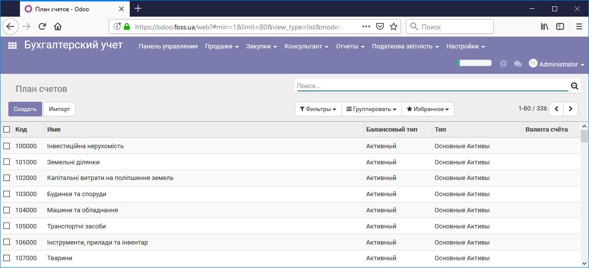 План бухгалтерских счетов Украины